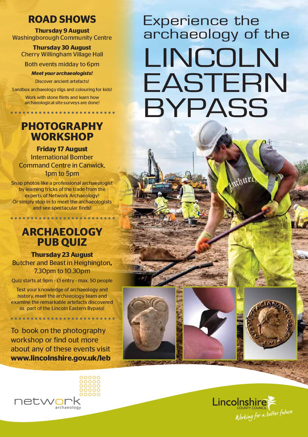 Lincoln Eastern Bypass Archaeology goes on tour!