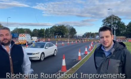 Riseholme Roundabout A46 upgrade works – Cllr Chris Reid