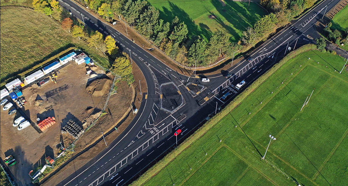 Sleaford Rugby Club junction improvements come to a successful end