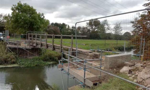 new bridge at Hudds Mill in Stamford