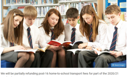 Post-16 school transport refund available for Covid disruption